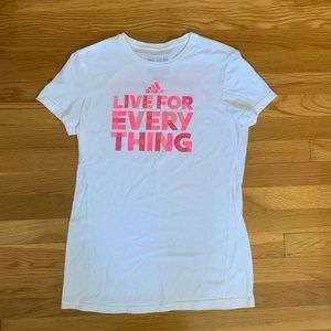 """""""Live for Everything"""" Adidas Tee"""